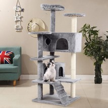 "52"" Cat Scratching Post and Ladder Kitten Tower Tree -Gray - £71.11 GBP"