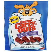 Canine Carry-Outs Bacon Flavor Dog Treats, 50-Ounce image 2