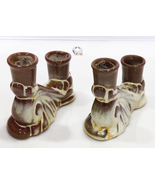 Pair of Vintage Frankoma Art Pottery Double Candle Holders, #304 - $7.95