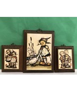 Hummel Signed Vintage Wooden Wall Plaques Lot Of 3 Collectibles Gift - $14.96