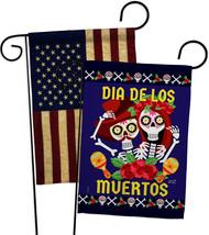 Dia De Los Muertos Pair - Impressions Decorative USA Vintage Applique Garden Fla - $30.97