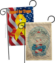 God is Light Burlap - Impressions Decorative Support Our Troops Garden Flags Pac - $34.97