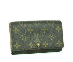 Auth Louis Vuitton Monogram Bi-fold Canvas Leather Short Wallet France M... - $196.00