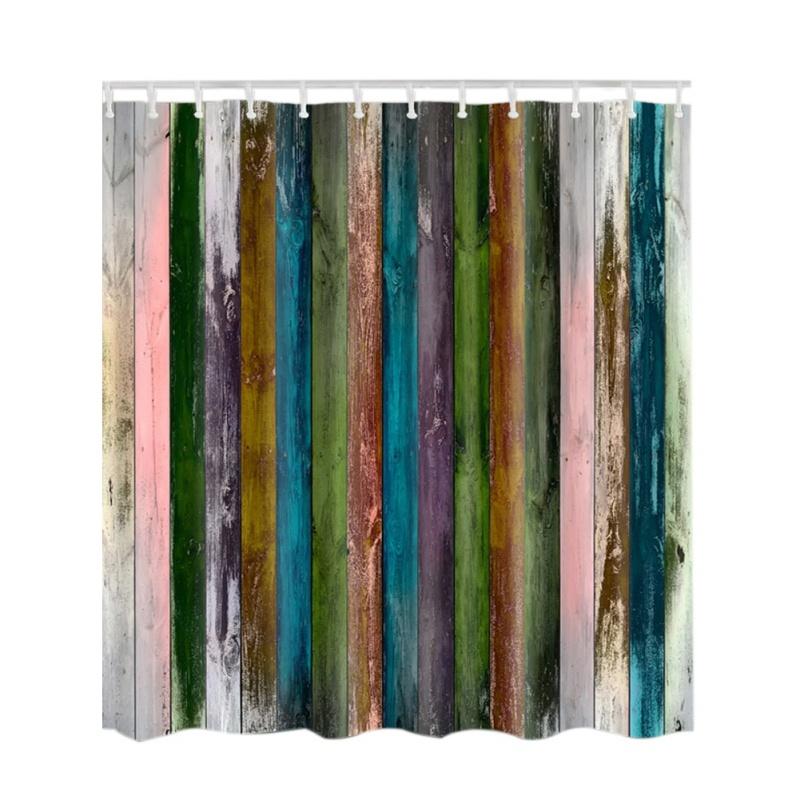 180cm new rustic shower curtain old wooden barn door of farmhouse oak countryside village board