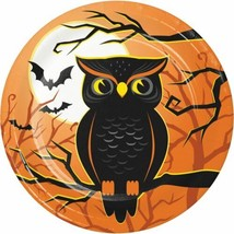 "Halloween Haunted House Owl 8 Ct 7"" Dessert Cake Plates - $4.39"