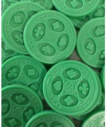 Sequence Board Game Replacement Parts 50 OEM Green Playing Chips token p... - $9.65