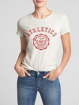 NWT GAP Heather Gray & Red Athletics Classics Tee 100% Cotton T-Shirt Women's M  - $18.99