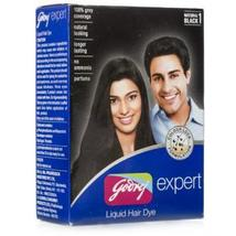 Godrej Expert 85ml Liquid Hair Dye Natural Black No Ammonia Natural Look - $8.99