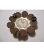 Vintage Mexikanische Centavos 1943 1944 1955 Münze Aschenbecher Metall F... - $19.85