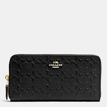 Coach ACCORDION ZIP WALLET IN SIGNATURE DEBOSSE... - $89.99