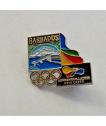 Barbados Barranquilla  2018  Pin Back Lapel Colombia XX111 CASCO Olympic... - $10.44