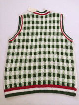 NWT Marisa Christina L Large Strawberry Patch Sweater Vest White Red Green image 5