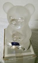 Full Lead Crystal TEDDY BEAR Bank with key Figurine by GODINGER - $23.75