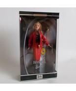 Ferrari Barbie Collector Doll Pleather Red Jacket Skirt Blonde Hair 2000 - $59.39