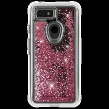 Casemate Waterfall Custodia Per Google Pixel 3 Oro Rosa Glitter Perline Nuovo