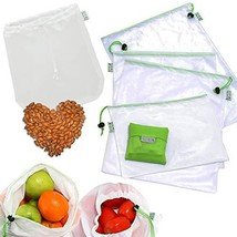 RYBit Premium Reusable Produce Bags Set of 11, 1 Nut Milk Bag, 1 Foldabl... - $14.08