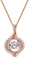 NANA Swirl Dancing Stone Pendant S-Silver Swarovski Zirconia 1mm 22'Adju... - $120.72