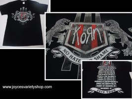 KORN NO HATE NO SHAME 2014 Tour Black T-Shirt NWT Sz Large Gildan Heavy ... - $14.84