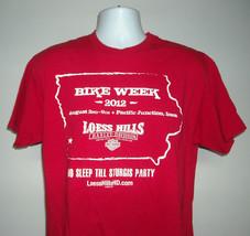 Mens Harley Davidson 2012 Bike Week Loess Hills T Shirt No Sleep till St... - $22.72
