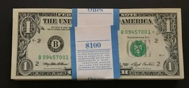1993 Star Note $1 One Dollar Bill Crisp Consecutive UNC BEP Pack New York - $7.99