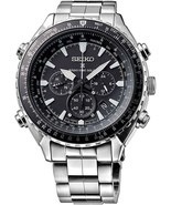 New Seiko Prospex Radio Sync Solar Chronograph Stainless Steel Mens Watch SSG001 - £234.10 GBP