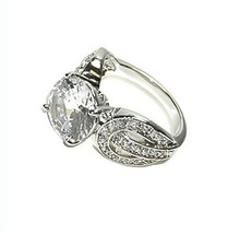 5CTW ROUND SOLITAIRE PAVE ACCENTS CZ RING-BRIDAL - $29.99