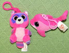 TY TEENIE CLIP ON LOT STUFFED ANIMALS PLUSH SCREECH PINKY OWL JUNGLELOVE ROSIE + image 3