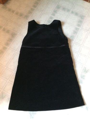 GAP KIDS black Velveteen Jumper Size XL Ribbon Trimmed Waist button back