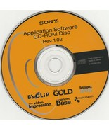 Application Software CD-Rom Disc Rev. 1.02 by Sony - $13.03