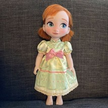 """Toddler Anna Doll Frozen 15"""" Tall, Disney Animators Nightgown Young Anim... - $27.71"""