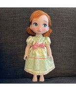 """Toddler Anna Doll Frozen 15"""" Tall, Disney Animators Nightgown Young Animator - $27.71"""