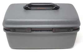 Vintage Samsonite Saturn Luggage Travel Train Gray Beauty Case Carry-On Make-Up - $35.99