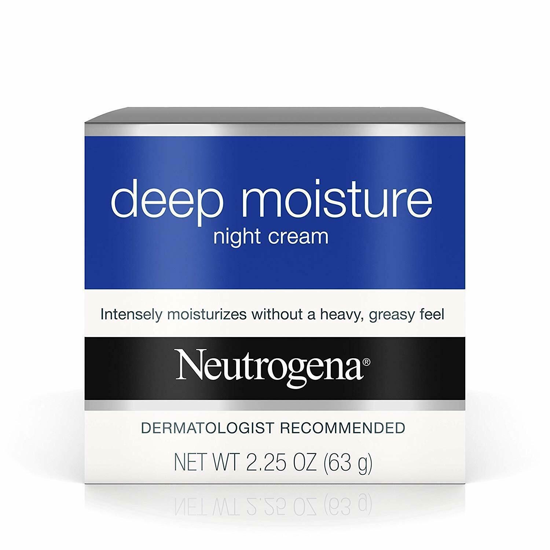 Neutrogena Deep Moisture Night Cream with Glycerin & Vitamin D3, Facial Moisturi - $13.09