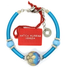 Bracelet Antica Murrina Venezia, BR718A07, Light Blue, Sphere Polka dot, Sized image 2
