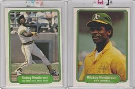 1982 Fleer Rickey Henderson A's #92 #643 - $1.90