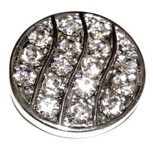 Clear White Rhinestone 18mm Snap Charm Interchangeable Jewelry Fits Ging... - $6.19