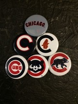 """1.25"""" Chicago Cubs pin back button set of 6 - $4.49"""