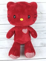 "Build A Bear 18"" Hello Kitty Plush Valentine's Edition Red Gingham Heart - $29.99"