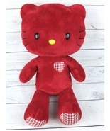 """Build A Bear 18"""" Hello Kitty Plush Valentine's Edition Red Gingham Heart - $25.49"""