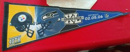 Pittsburgh Steelers Seattle Seahawks Pennant Super Bowl XL 40 2006 NFL - $72.43
