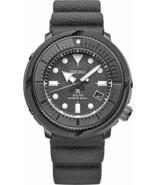 New Seiko Solar Diver 200M Gray Dial Silicone Strap Men's Watch SNE537 - $243.52