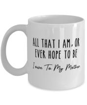 Best Mothers Day Mom Coffee Mug Christmas Gifts, Funny Mom Mug All I owe to my  - £10.63 GBP