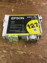 Genuine Sealed OEM Epson 127 Yellow Ink Cartridge - $8.59
