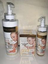 24K Gold Glutathione & Kojic White Nutri Glow Whitening Body lotion, soap& serum - $86.13