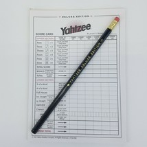Yahtzee Deluxe Edition 23 Score Pad Sheets Replacement Game Part Bonus Pencil - $8.99
