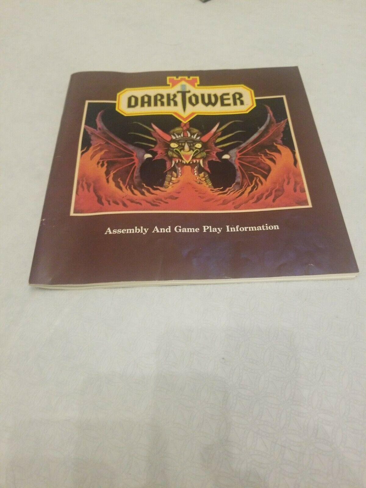 Vintage 1981 Milton Bradley DARK TOWER INSTRUCTION MANUAL BOOK BOOKLET ONLY CC - $19.07