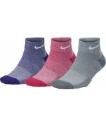 Nike Women's Girl's 3 Pack Everyday Cushioned Ankle Socks - $24.99