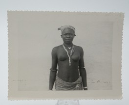 Original WW2 Era Nude Photo Native African Woman w/ Scarification Mossi ... - $35.05