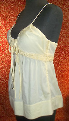 FRENCH CONNECTION pale soft yellow cotton spaghetti blouse 4 (T0503D8G) image 5