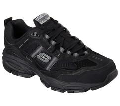 51241 EW Wide Width Black Skechers shoes Men's Memory Foam Sport Comfort... - £42.26 GBP